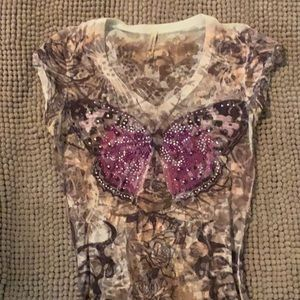 American age butterfly top size medium